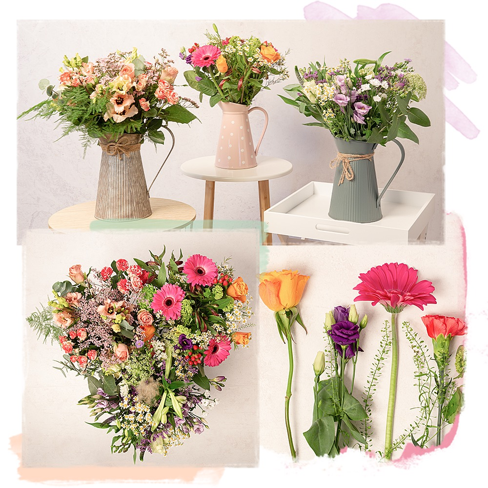 Photograph of previous Florist's Choice bouquets